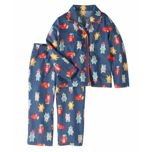Toast & Jammies Toddler Boy Notch Collar Long Sleeve Classic Pajamas, 2pc Set - 2T $5
