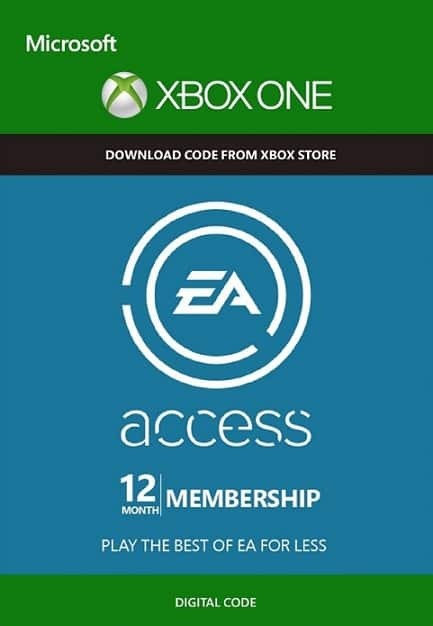 EA Access 12 Month Membership Card Global (Xbox One ) $22.99