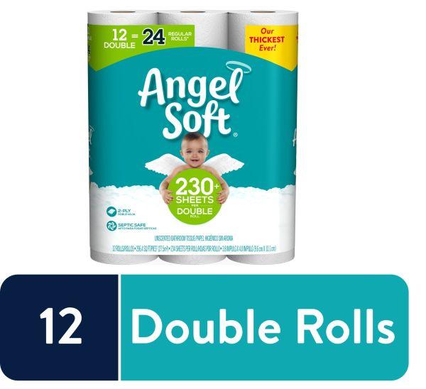 Angel Soft Toilet Paper, 12 Double Rolls - YMMV $5.97
