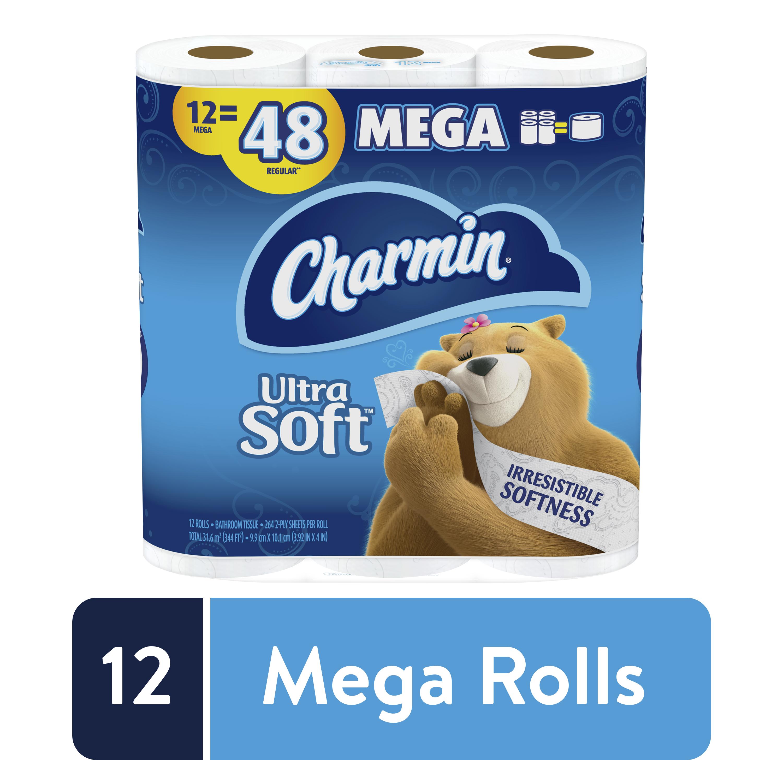 Charmin Ultra Soft Toilet Paper, 12 Mega Rolls, 264 Sheets per Roll - YMMV $12.97
