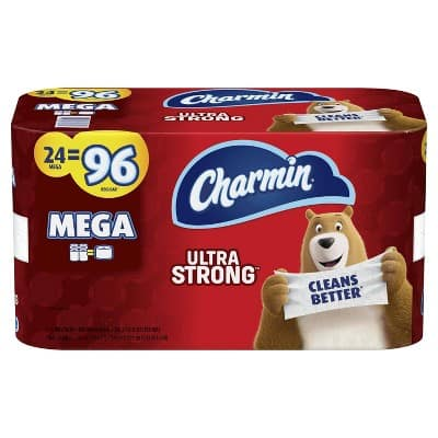 Charmin Ultra Strong Toilet Paper - Mega Rolls - Shipping availability will vary by zipcode $23.82
