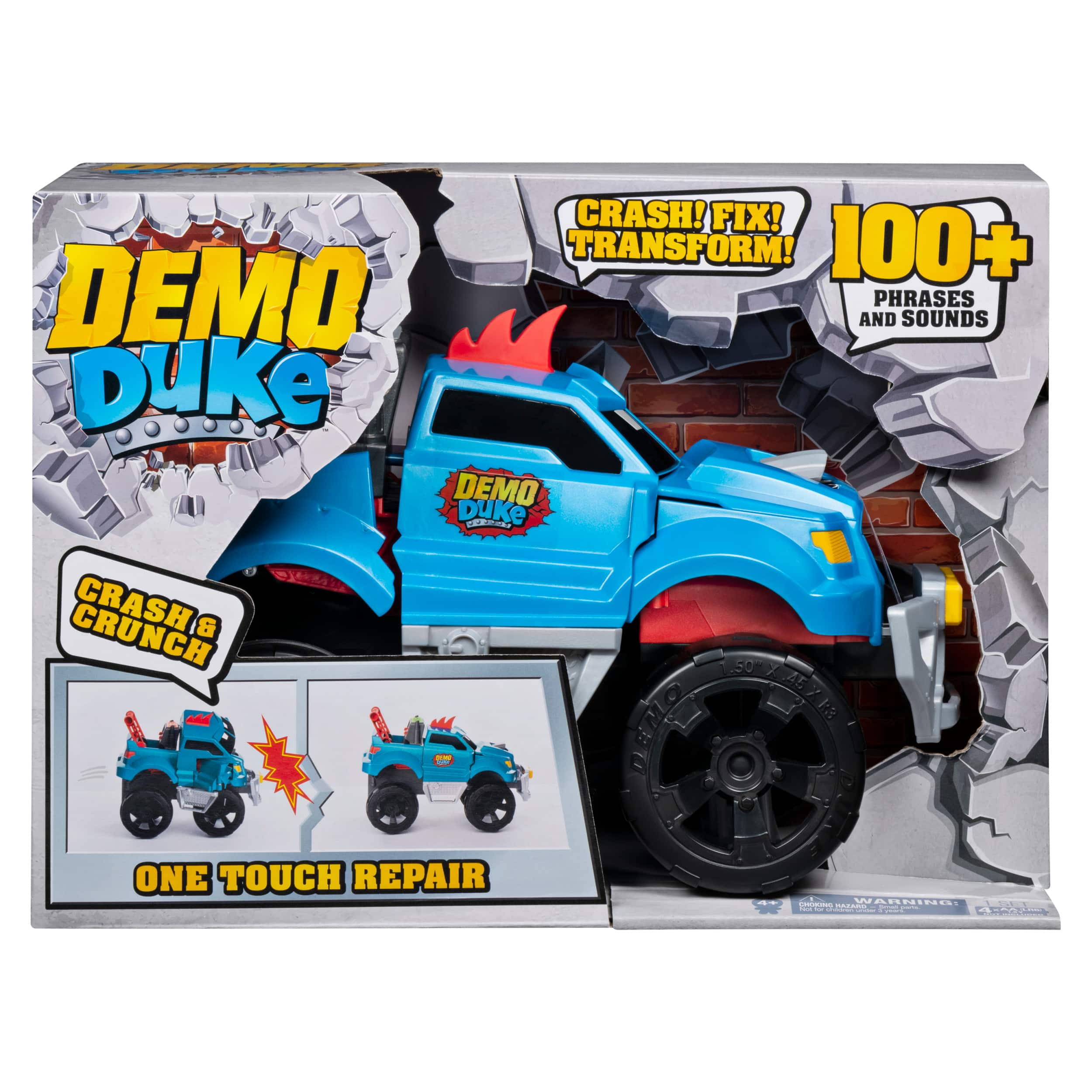 Demo Duke, Crashing and Transforming Vehicle with Over 100 Sounds and Phrases, for Kids Aged 4 and Up $19.88
