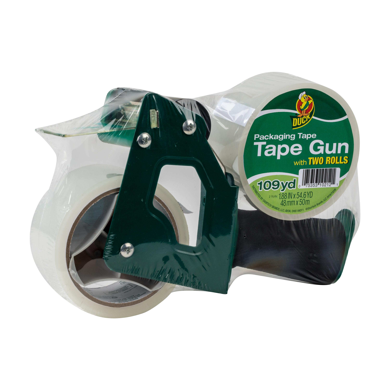 Duck Brand Standard Tape Gun with Foam Handle, Includes 1 Roll of 54 Yard Standard Tape $4.4