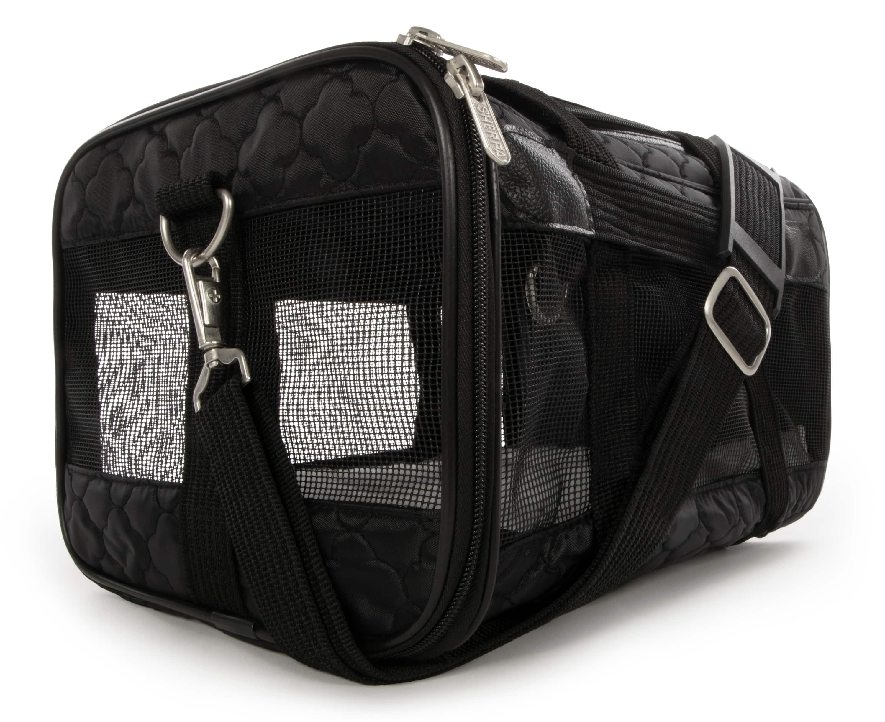 "goDog Sherpa Airline Approved Dog Carrier, Black, Small, 15""L $26.15"