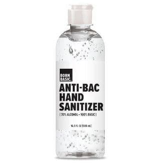 Born Basic Hand Sanitizer 70% alcohol - 16.9 fl oz $3.99
