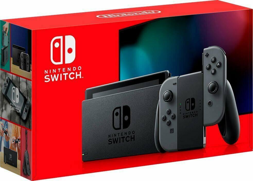 Nintendo Switch Console w/ Gray Joy-Con (HADSKAAAA) Refurbished - $228.65 + Free Shipping @ eBay