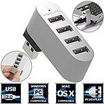 Sabrent Premium 4-Port Aluminum USB 2.0 Rotatable Hub - $5.99 AC + Free Shipping w/ Prime @ Amazon