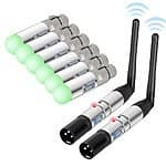 8pc Donner DMX512 DMX Dfi DJ 2.4G Wireless 6 Receiver & 2 Transmitter Lighting Control $190 AC + Free Shipping @ Amazon