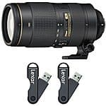 Nikon AF-S DX Nikkor 35mm F/1.8G Lens + 2-Pack 64GB Lexar Flash Drive Bundle $196.95 + Free S&H & Much More @ BuyDig