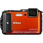 Nikon COOLPIX AW130 16MP WaterProof Digital Camera w/ WiFi (Orange) Refurbished  $189 + Free Shipping @ BuyDig