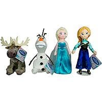"Walmart Deal: Disney Frozen Talking 8"" Plush Collectible Set (4-Pack: Elsa, Anna, Olaf, Sven) - $19 + Free Store Pickup @ Walmart"