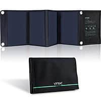 Amazon Deal: Vinsic 22W Portable Solar Panel & Dual-Port Charger