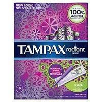 16-Count Tampax Radiant Plastic Unscented Tampons