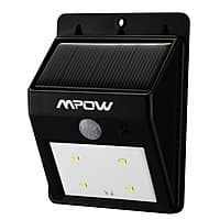 Amazon Deal: MPOW Solar Powered Wireless 4 LED Outdoor Security Motion Sensor Light