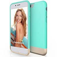 Amazon Deal: MaxBoost Vibrance Series iPhone 6 Plus Case (Turquoise / Champagne Gold)