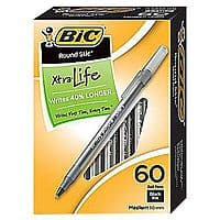 Staples Deal: 60-Pack Bic Round Stic Xtra Life Medium Ball Point Pens