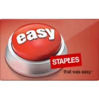 Staples Gift Cards Deal: $50 Staples eGift Card + $10 Staples ePromo Card (Digital Delivery)
