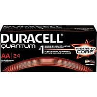 Staples Deal: 24-Pack Duracell Quantum AA Alkaline Batteries