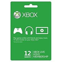 Rakuten (Buy.com) Deal: 12-Month Xbox Live Gold Membership Card