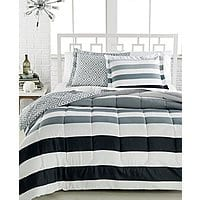 Macy's Deal: 3-Piece Comforter Sets: Dylan Reversible, Modern Stripe, or Ainsley