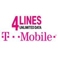 T-Mobile: 4 Lines w/ Unlimited Talk, Text & 4G LTE Data