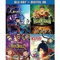 Laika 4-Film Steelbook Collection (Blu-ray + Digital) Pre-Order: Kubo & More