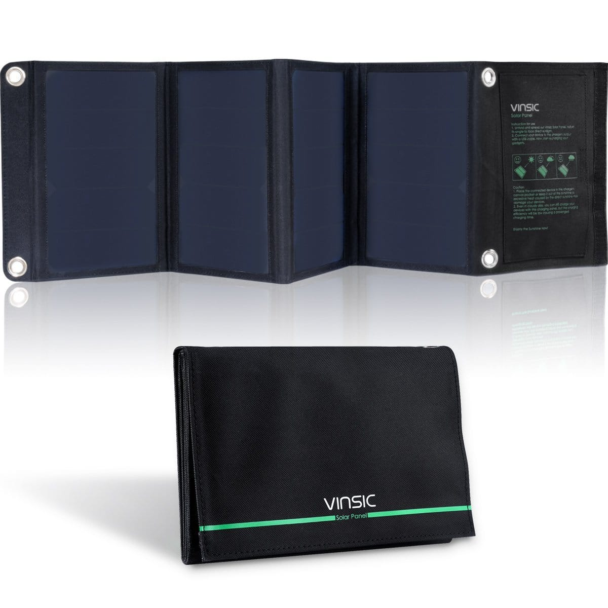 Vinsic 22W Portable Solar Panel & Dual-Port Charger  $60 + Free Shipping