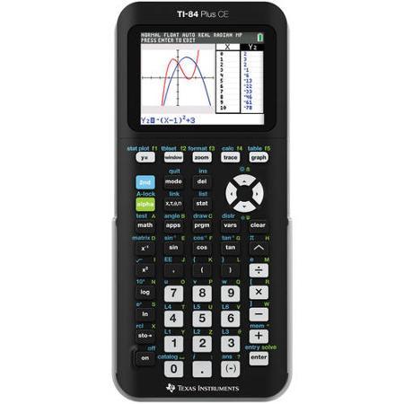 TI-84 Plus CE TI 84 + CE Graphing Calculator, Black $88 FS @Walmart