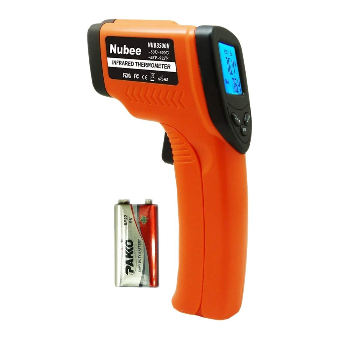 Nubee Non-Contact Infrared Thermometer Digital Temperature Gun w/ Laser Sight (NUB-8500H) for $11.88 AC + FSSS or FS w/ Prime @ Amazon.com