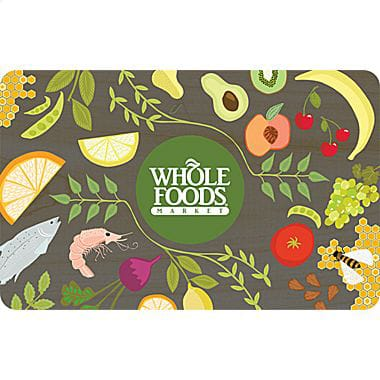 $50 Whole Foods Market Gift Card  $42 & More + Free Shipping
