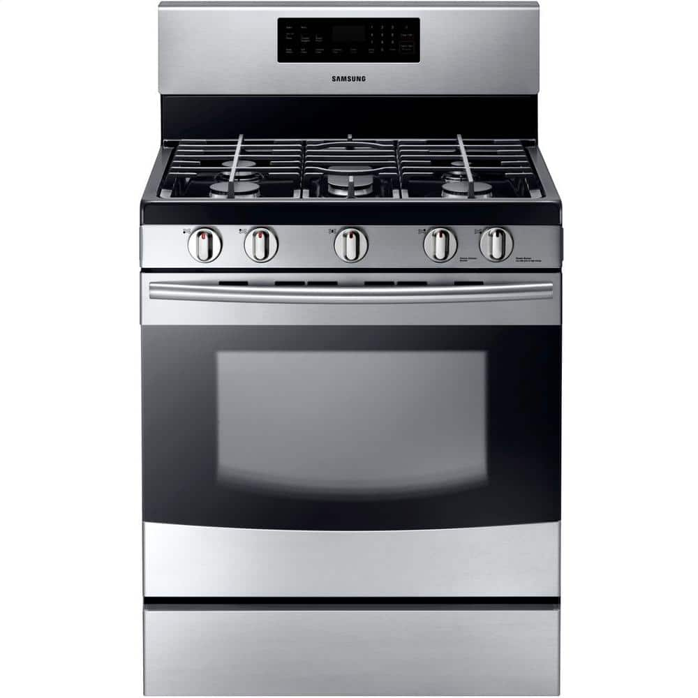 "Samsung 30"" Stainless Steel 5-Burner Gas Range w/ 5.8 cu. ft. Oven  $538 + Free Shipping"