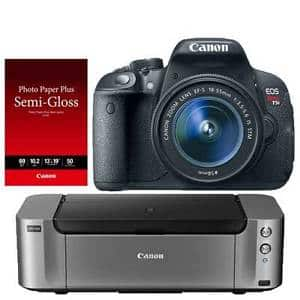 Canon T5i DSLR Camera + 18-55mm Lens + Pro-100 Printer  $369 After $350 Rebate + Free S&H