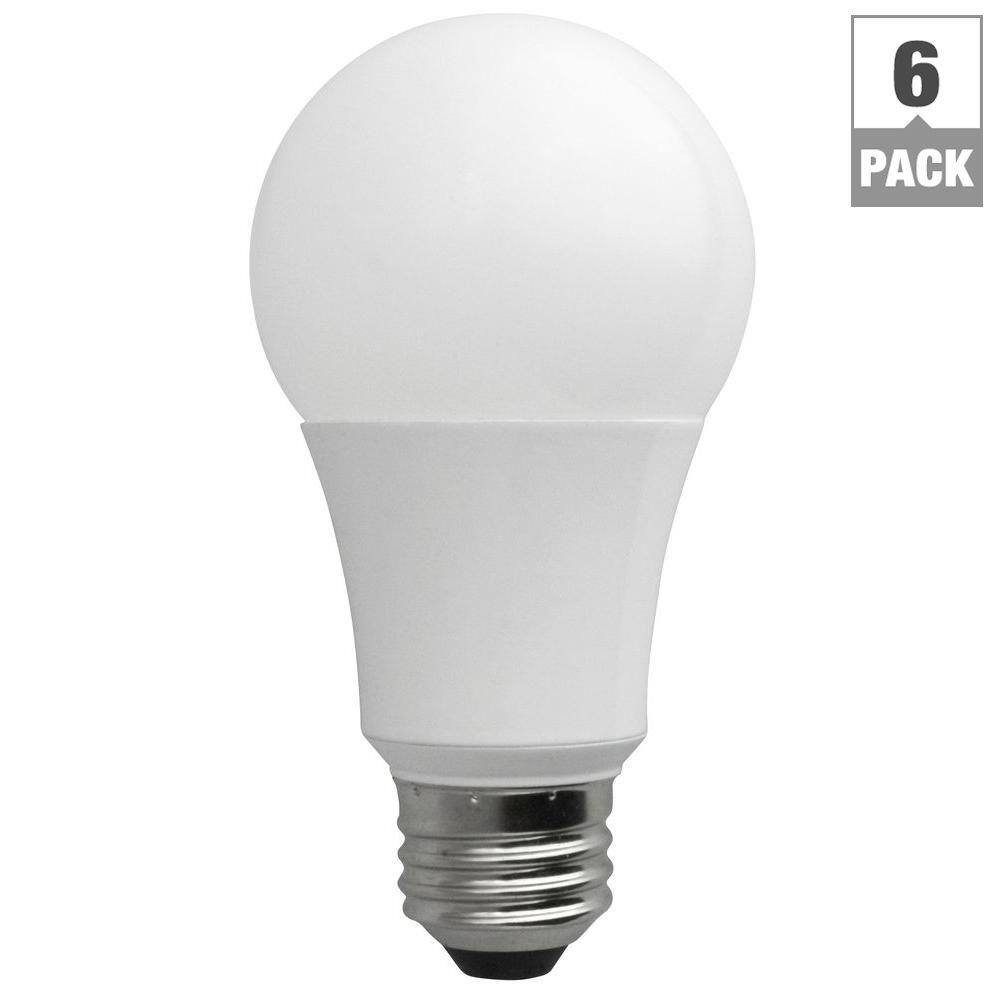 6-Pack Daylight TCP A19 Non-Dimmable LED Light Bulbs (60W Equivalent) $16 + Free Store Pickup