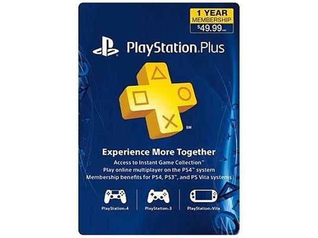 playstation plus 1yr membership 39.99