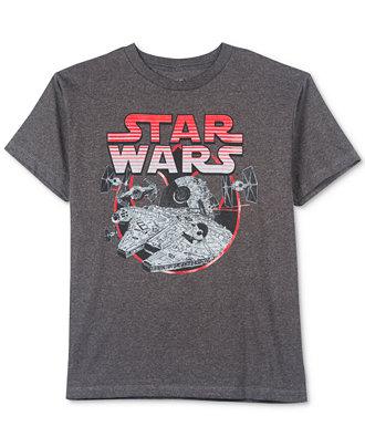 Boys Star Wars Tees: 6x Big Boys Size $25.65 or 6x Little Boys Size  $20.55 + Free Shipping