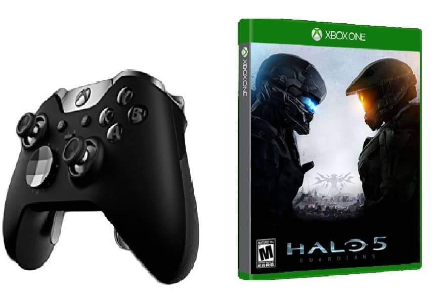 Microsoft Xbox One Elite Wireless Controller + Halo 5: Guardians  $150 + Free Shipping