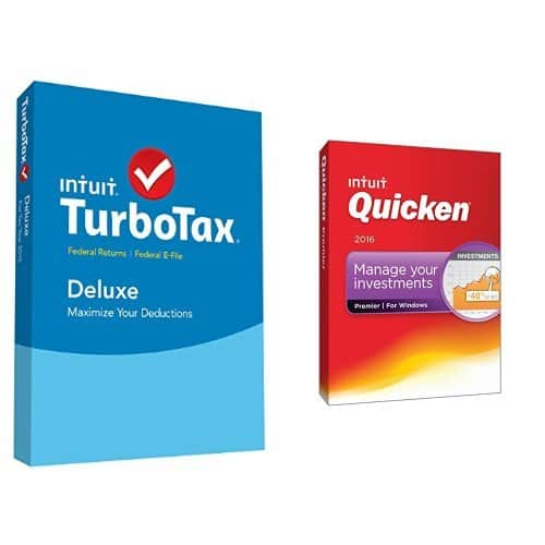 TurboTax Deluxe 2015 Federal (PC/Mac) + Quicken Premier 2016 (PC)  $65 & More + Free S&H