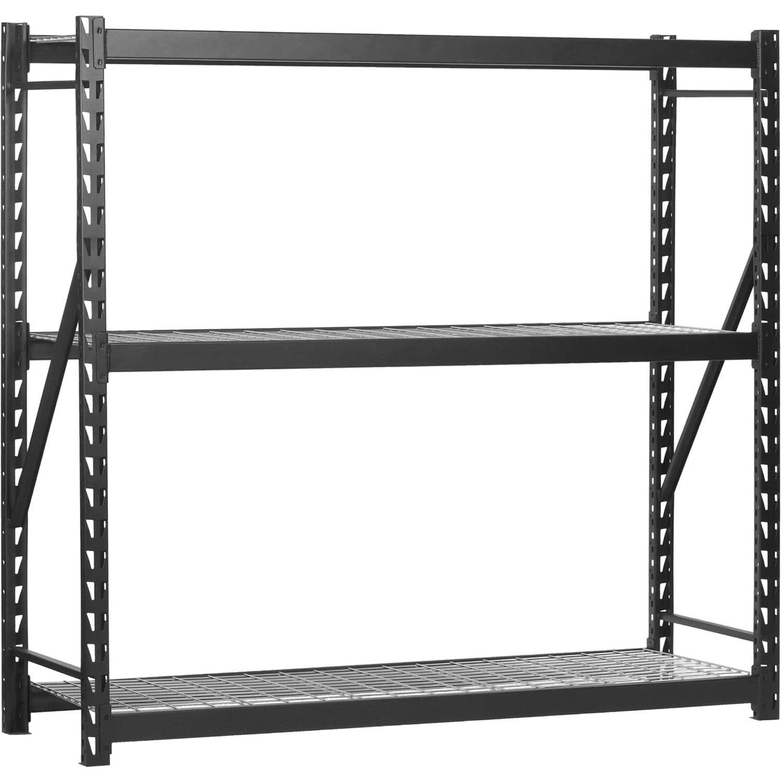 "Edsal 3-Shelf Black Steel 72"" Storage Rack  $99 + Free Shipping"