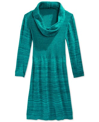 Kids' Clearance Apparel: Girls' Marled Cowl Neck Sweater Dress  3 for $21 & More