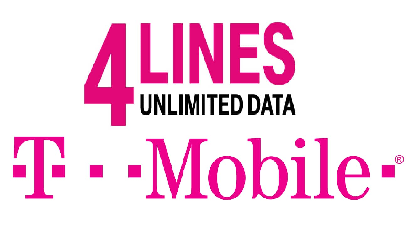 T-Mobile: 4 Lines w/ Unlimited Talk, Text & 4G LTE Data  $150/Month & More