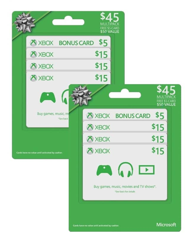 $100 in Microsoft Xbox Gift Cards  $81 + Free Shipping