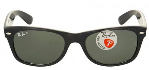 Ray-Ban New Wayfarer 52mm Polarized Sunglasses (Black/Green)  $80 & More + Free S/H