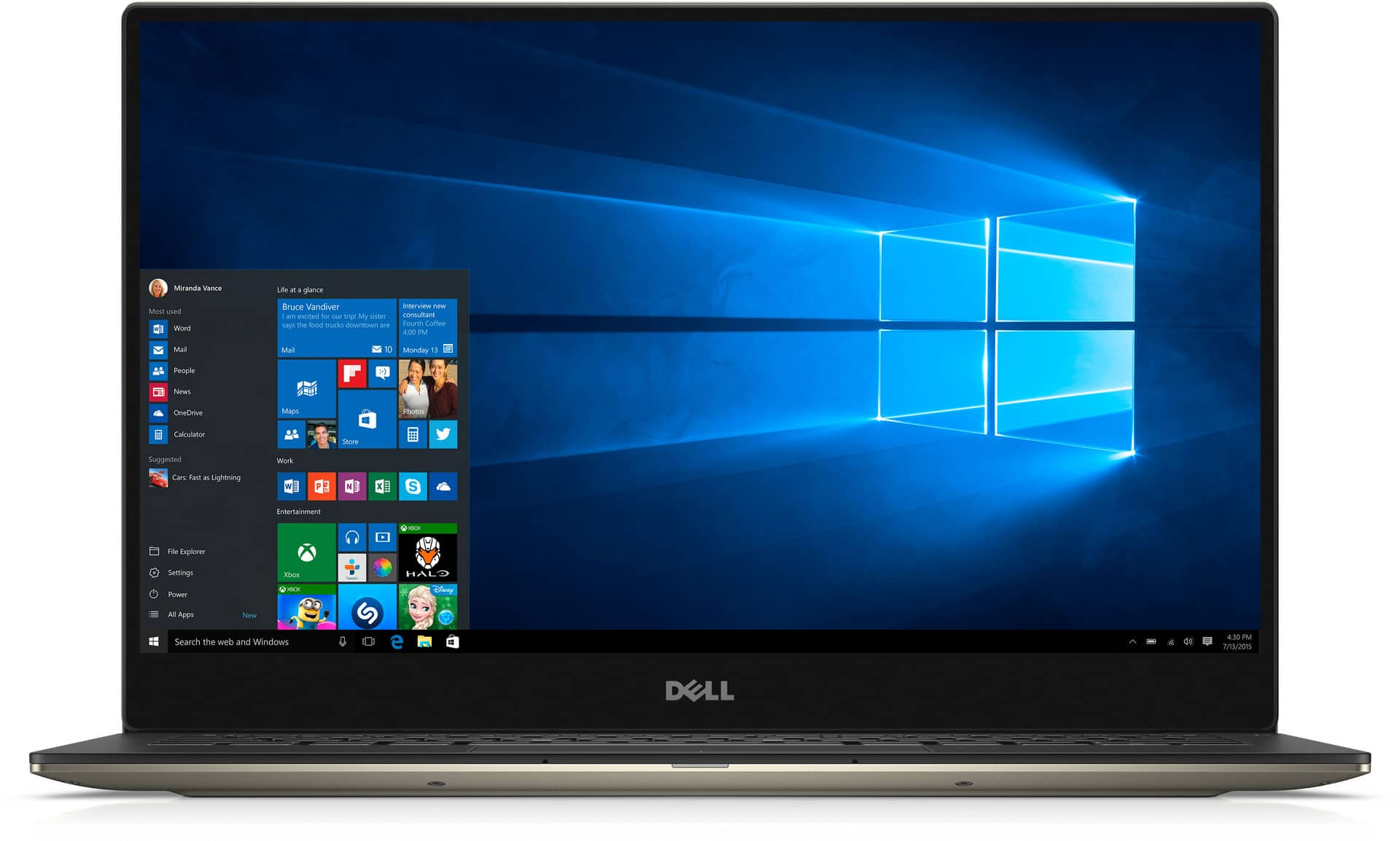 Dell XPS 13 9350 Laptop: i7-6560U, 256GB PCIe SSD, 3200x1800, Iris 540 GPU  $1100 After $100 SD Rebate + Free S&H