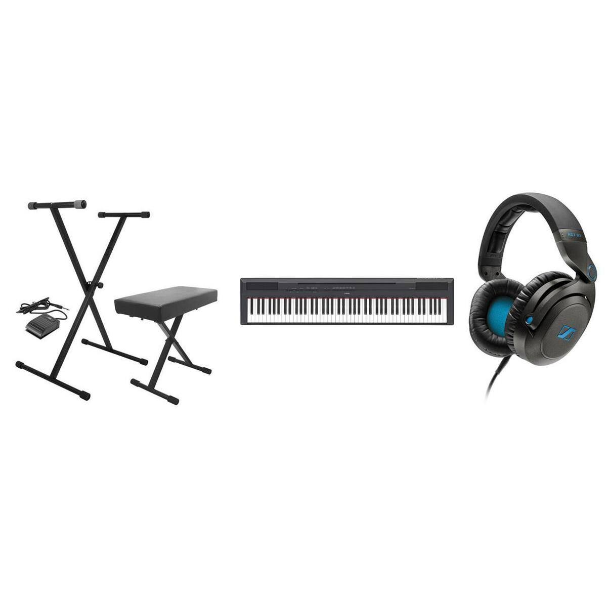 Yamaha P-115 88-Key Digital Piano + Sennheiser HD7 Headphones + Stand & Bench  $600 + Free Shipping