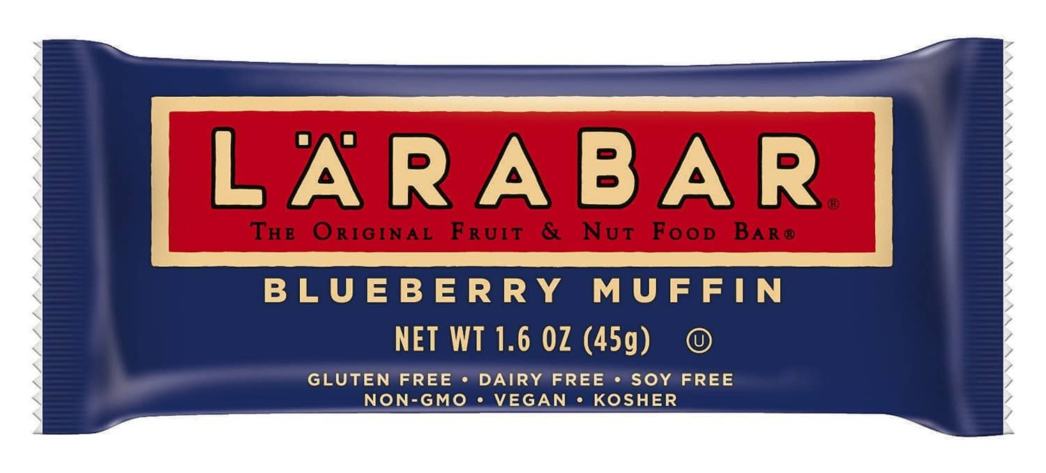 Amazon - LÄRABAR, 5 count Blueberry Muffin $3.16 AC+ 15% S&S or peanut butter flavors