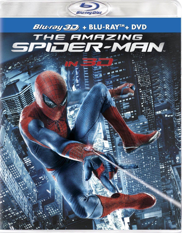 The Amazing Spider-Man (3D Blu-ray + Blu-ray + DVD + UltraViolet Digital)  $10 + Free Store Pickup