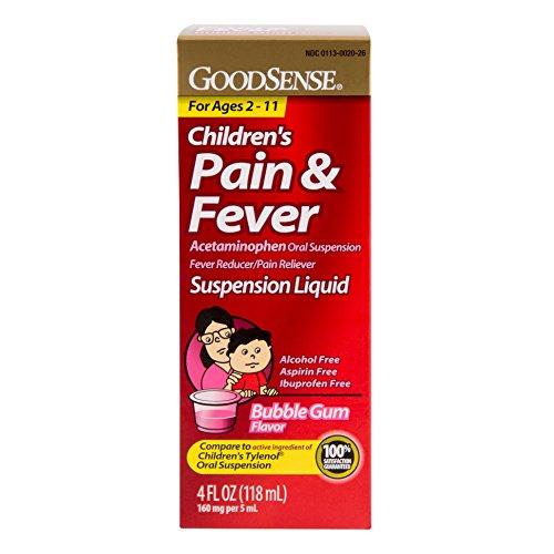 GoodSense Acetaminophen Children's Pain Reliever Liquid, Bubble Gum Flavor, 4 Fluid Ounce as low as $2.35 w/Amazon S&S