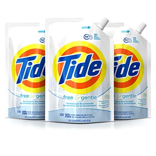 3-Pk 48oz Tide HE Liquid Laundry Detergent Pouches (Free & Gentle)  $14.10 + Free Shipping