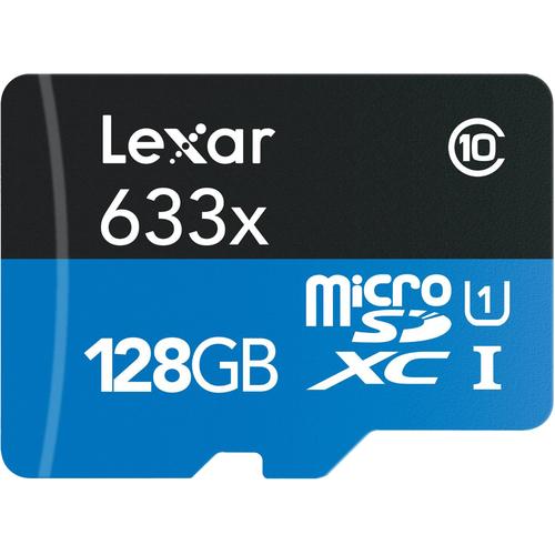 128GB Lexar 633x MicroSDXC Memory Card + $30 Vudu Voucher + 3-Months of Rhapsody  $40 + Free Shipping