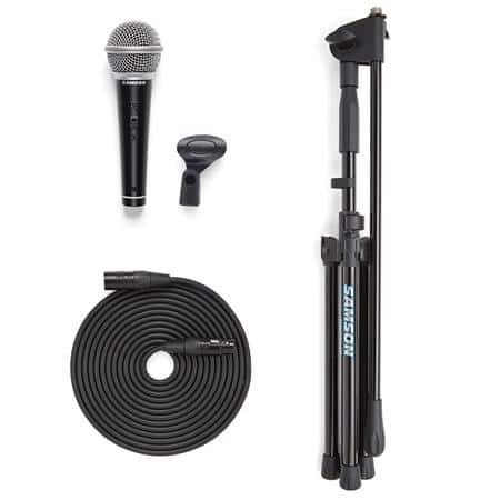 Samson VP10X Microphone Bundle: (microphone, stand, clip & 18' XLR Cable) $32 + free shipping